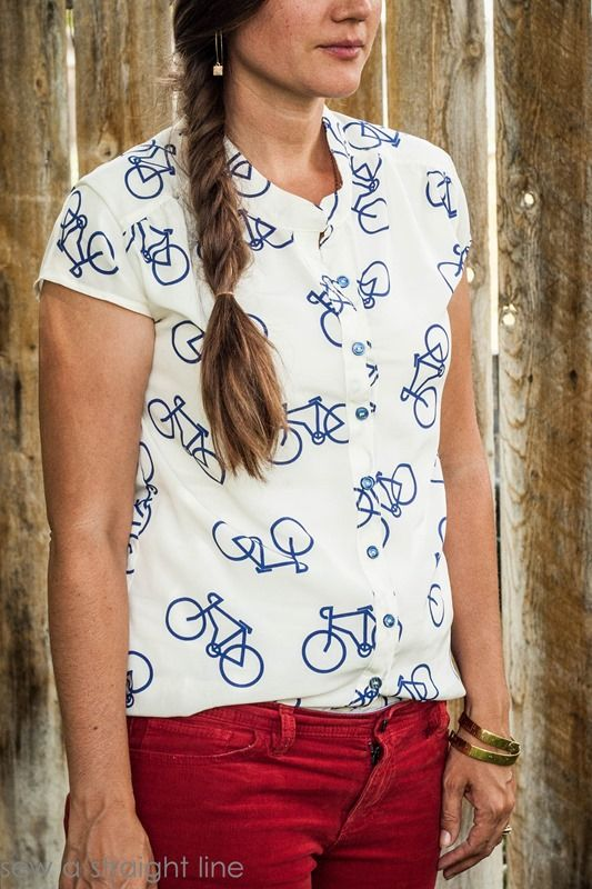 marigold bicycle top sew a straight line