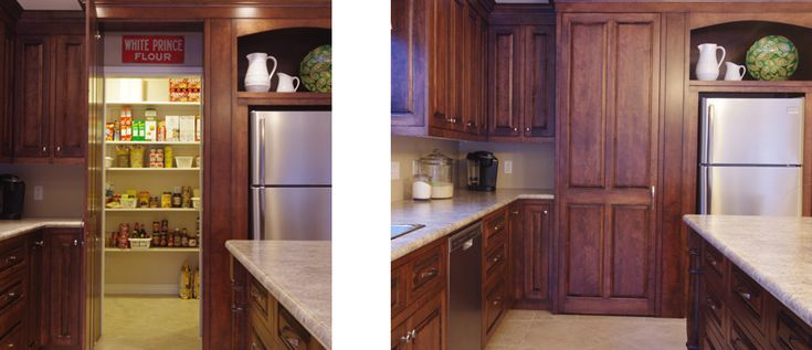 hidden kitchen pantry cabinet doors - Google Search