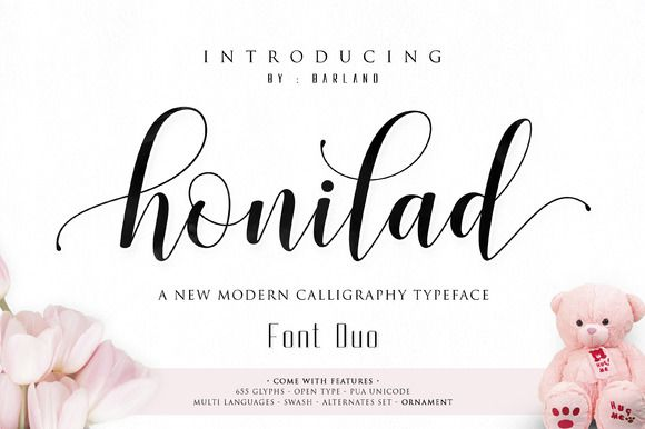 Honilad Script Font Duo by Barland on @creativemarket