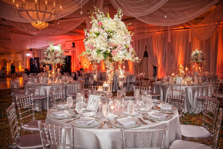 A fairy tale ballroom wedding at the Delray Beach Marriott in Delray Beach, Florida | Southern Florida wedding venues indoor (Jeff Kolodny Photography)