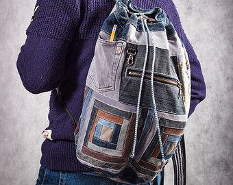 Джинсовый рюкзак Бесконечность от bRucksack на Etsy