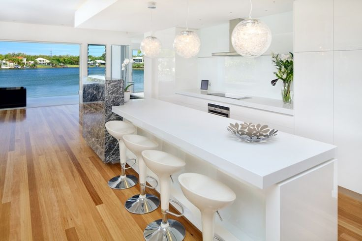 dreaming of a white kitchen with a view like this