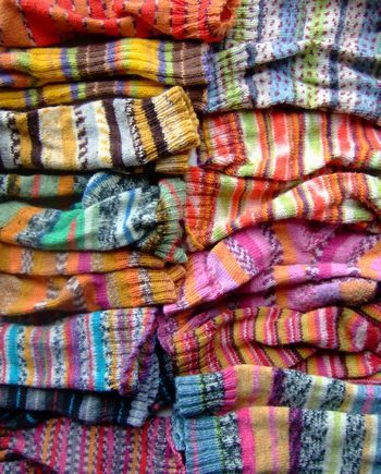 I love all of the socks...aren't the colors beautiful!  Jane Brocket's photos are so beautiful!