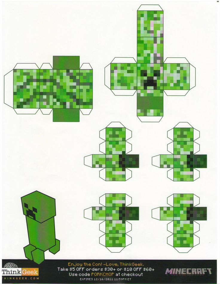 minecraft papercraft | Minecraft paper crafts sponsored by Thinkgeek--which I think is ...