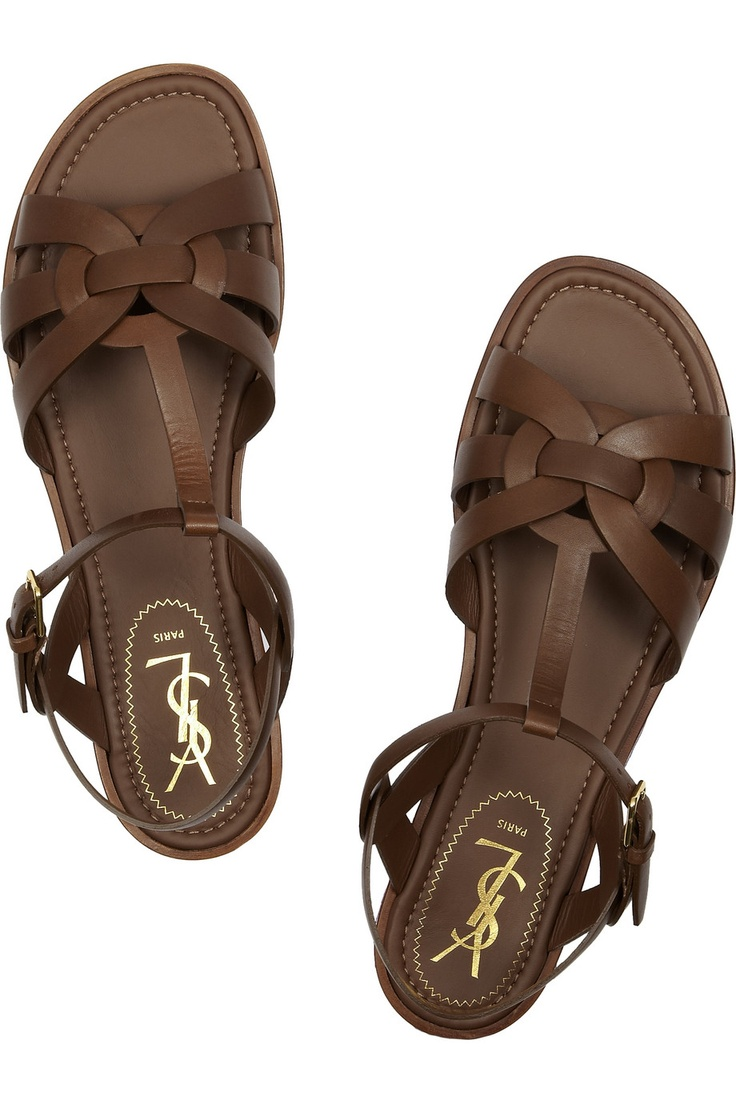 Yves Saint Laurent: Tribute Leather Sandals Only $417! Can I wish ...