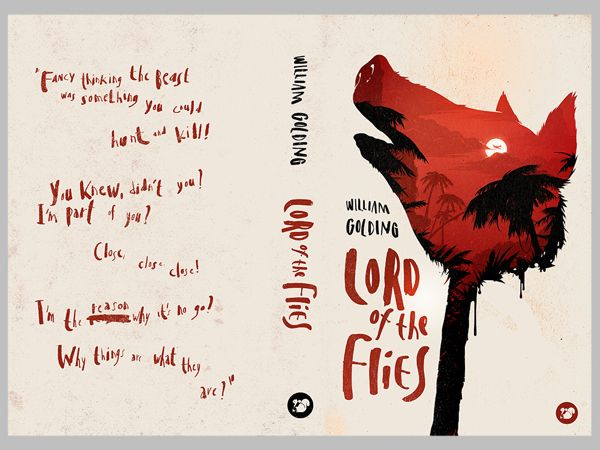 Amazing contemporary cover of Wiliam Golding's Lord of the Flies