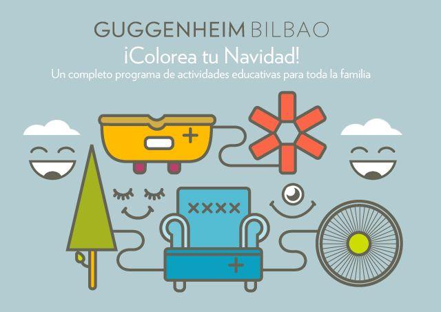 BBK invita a las familias a colorear la Navidad en el Museo Guggenheim Bilbao - BBK Innova Sarea Blog