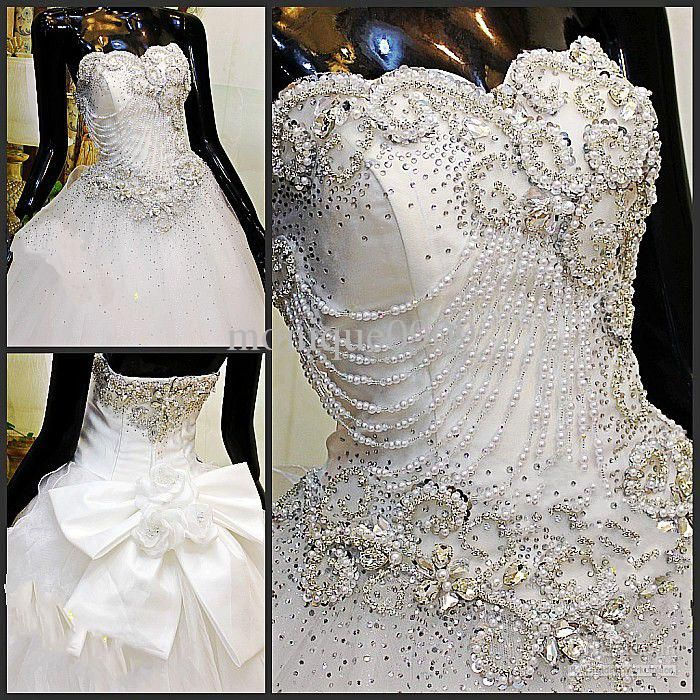Wholesale 2013 Strapless Appliques Beaded Bling Luxurious