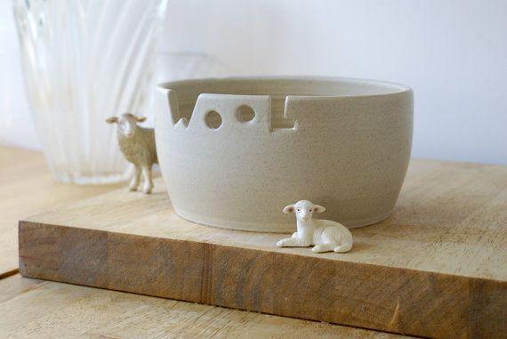Made to order - The wool yarn bowl, hand thrown custom pottery yarn bowl