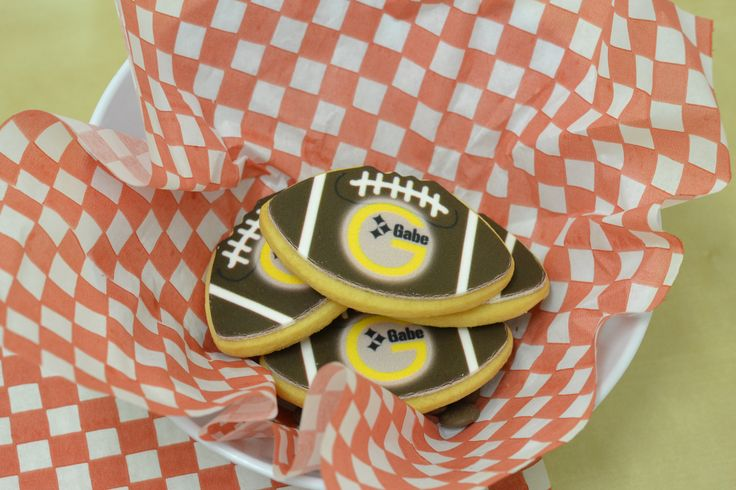 Football tailgating shortbread cookies