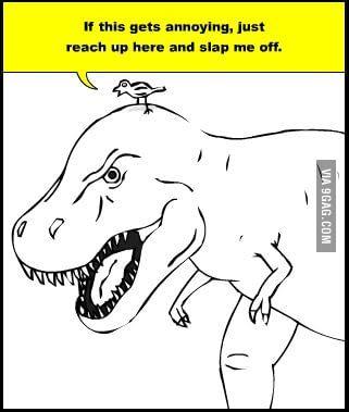 Bird vs T-Rex