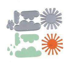 133*53mm Nueva Lluvioso Nube Brillante acero Al Carbono Troqueladora Scrapbooking Relieve Muere Muere Plantillas de Corte DIY Decorativo tarjetas(China (Mainland))