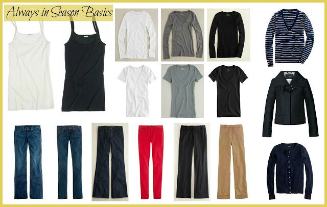 Improving Me in 2013: Day 6 {The Always in Season Basics} The essential pieces for building your wardrobe.