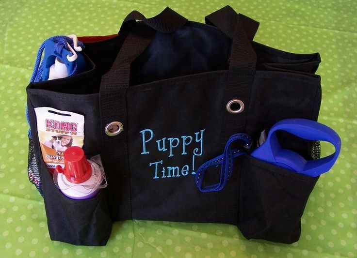 Thirty-one organizing utility tote... Use it for your puppy's supplies.