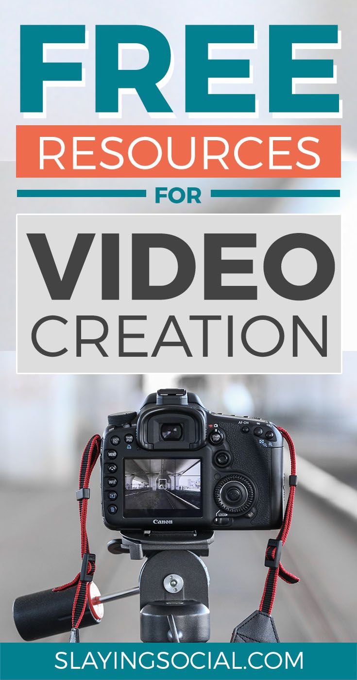 Amazing free video resources for creators, including where to find free stock video, free stock music, free video editors and more. #SocialMedia #Marketing #Video