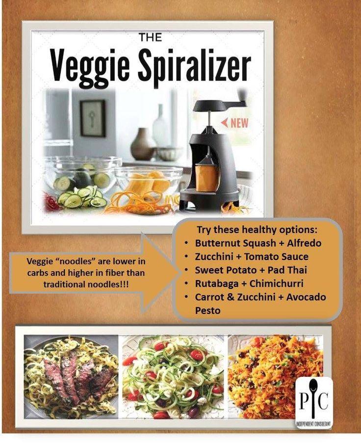 Pampered Chef Veggie Spiralizer www.pamperedchef.biz/rebeccabalde