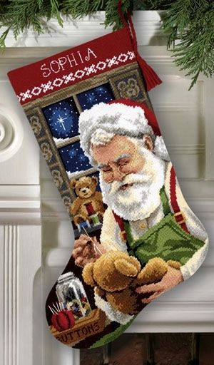 New Needlepoint Christmas Stocking from Dimensions Christmas | Julie's Cross Stitch Blog