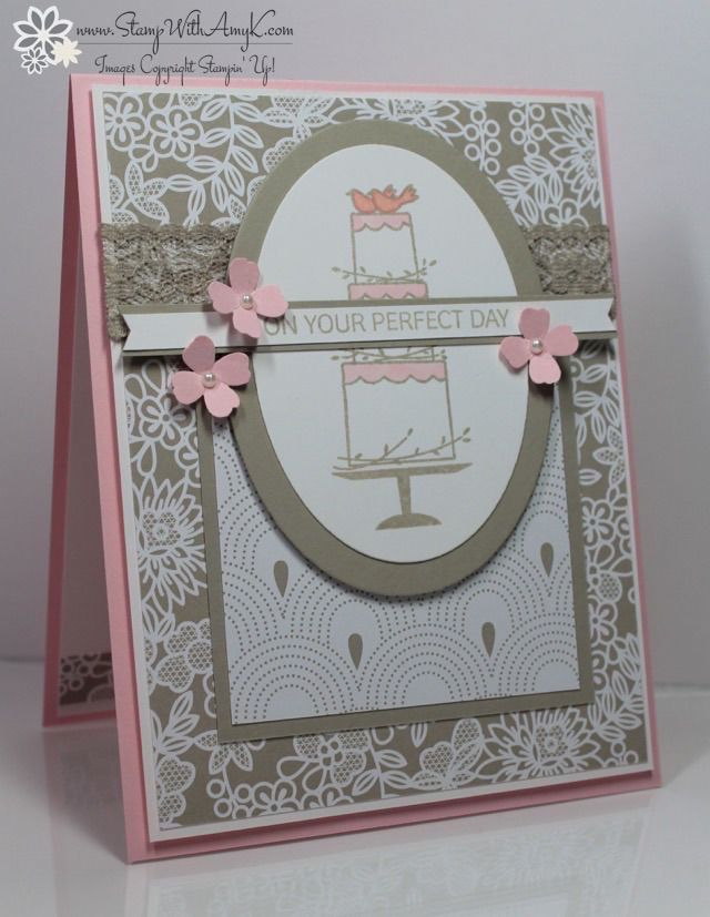 words to write in wedding shower card%0A Stampin u     Up  Your Perfect Day Wedding Card