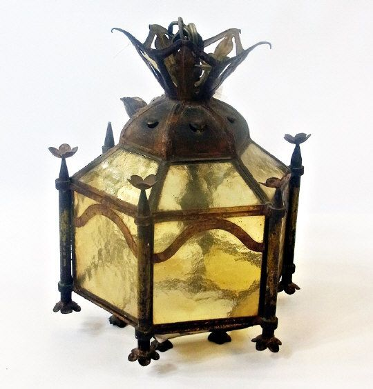 Art Nouveau glass hanging lamp.   Estimate £20.00 to £40.00 (Lot no: 36 in sale on 05/08/2014) The Cotswold Auction Company