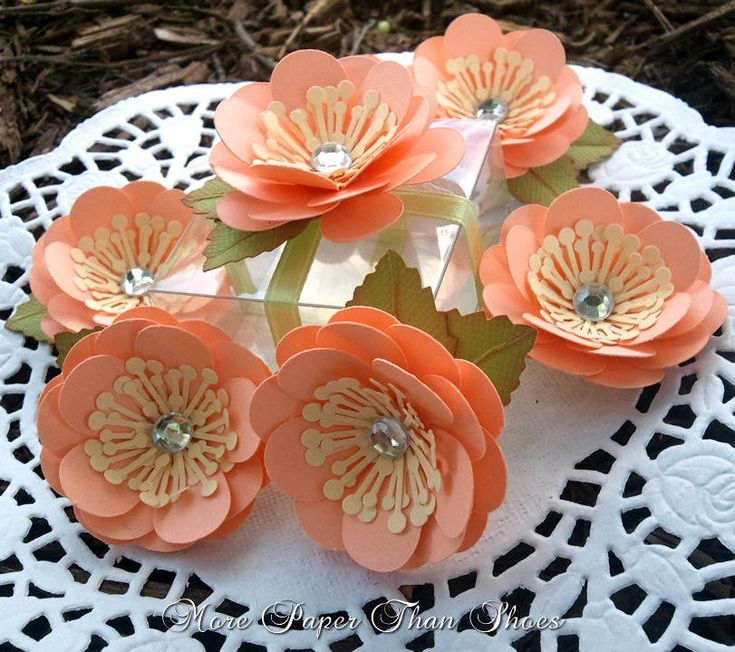 Handmade Paper Flowers - Wedding Favors - Embellishment