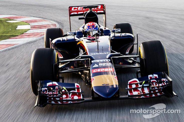 Max Verstappen drives the Toro Rosso STR10
