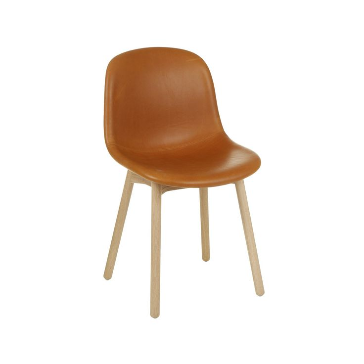 HAY - Neu13 Chair with Upholstery - Leather Silk/Cognac