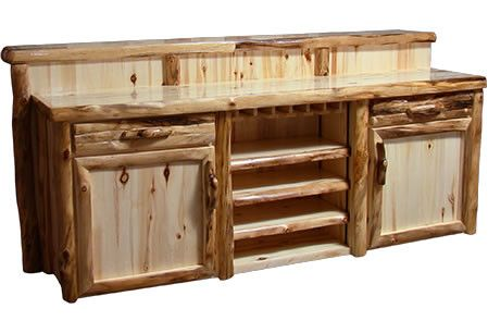 Deluxe Staggered Bar In Log Front 72 W Products