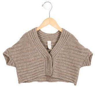 Tia Cibani Girls' Alpaca Short Sleeve Cardigan w/ Tags