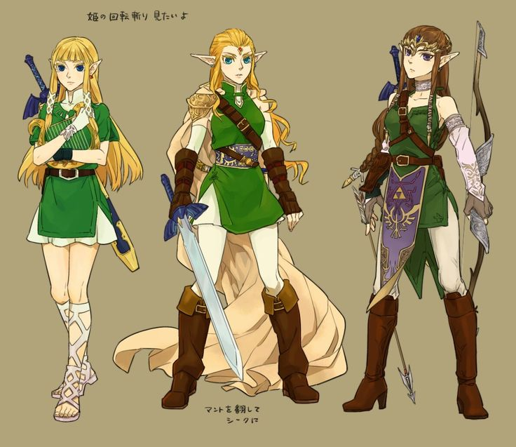 Zelda(Left) is from Skyward Sword..Okay so....Got it!The Zelda in the middle is from Ocarina of Time...And I guess that would make the Zelda on the Right from Twilight Princess