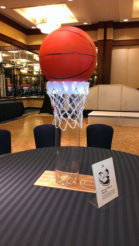 25 best ideas about sports centerpieces on pinterest for Athletic banquet decoration ideas