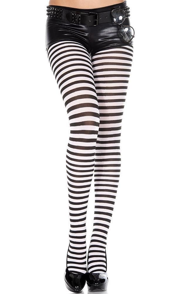 6e2f716c440c4 Opaque Striped [Black/White] | PANTYHOSE in 2019 | Style | Striped ...