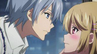 Asagi's surprise kiss. :*