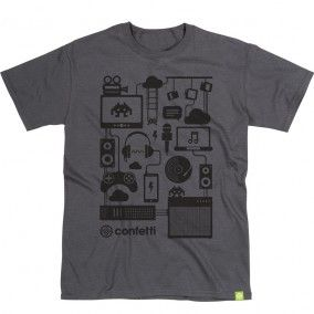 The full Confetti Connected Tee showing hem detail - Confetti Institute for Creative Technologies in Nottingham