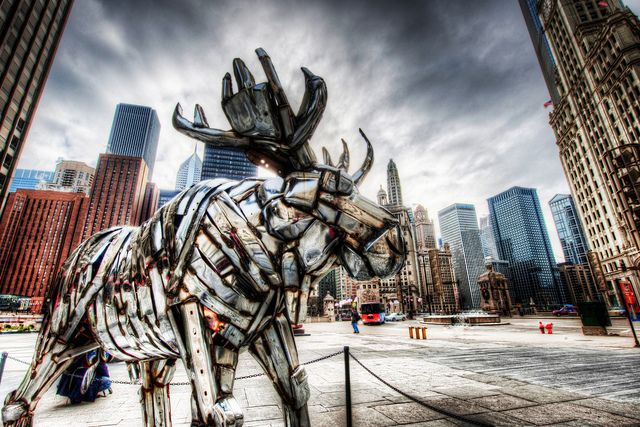 The Metal Moose...Chicago: Chicago My Kind, Trey Ratcliff, Metals, Hdr Photography Or, Amazing Places, Metal Moose Chicago