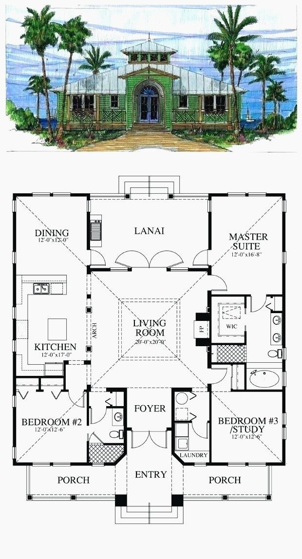 28 Awesome Hacienda Style House Plans With Courtyard In 2020 Courtyard House Plans Home Design Floor Plans Beach House Plans