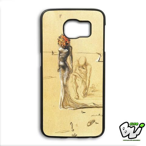 Woman With Flower Salvador Dali Samsung Galaxy S6 Edge Plus Case