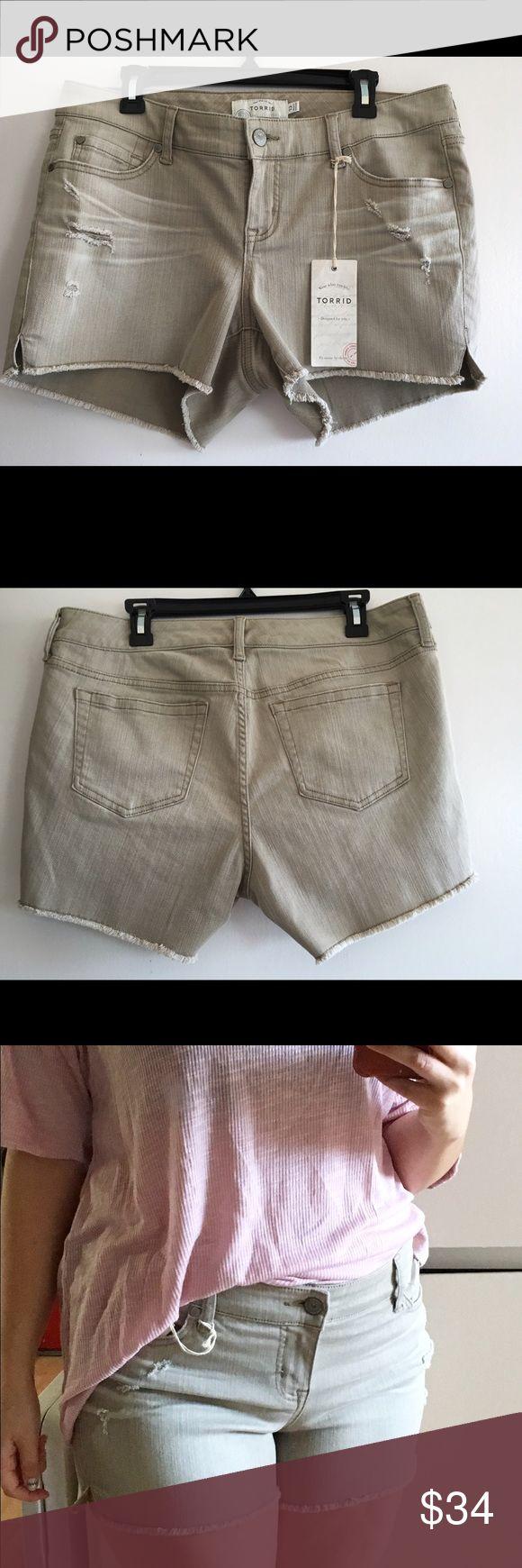 Torrid shorts NWT Torrid 12 desert sand jean shorts NWT ! torrid Shorts