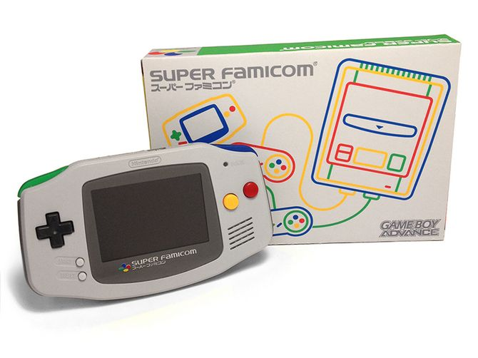 Custom Gameboy Advance: Super Famicom Themed by Rose Colored Gaming