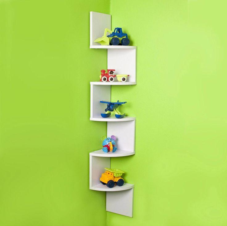 corner wall shelves white
