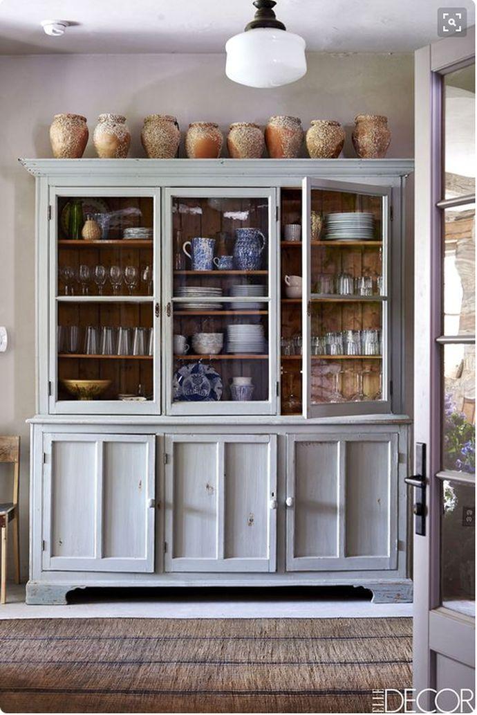 freestanding kitchen cabinets, kitchen storage ideas, furniture in the kitchen, hutch, glass doors