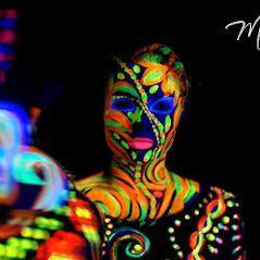 Professionelles Bodypainting mit Fotoshooting für Messen & Events– Fotos –