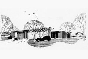 Modern Exterior - Front Elevation Plan #470-8 - Houseplans.com