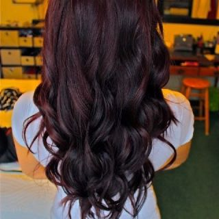 Purple/red tint on dark hair. Absolutely love. | Clothes ...