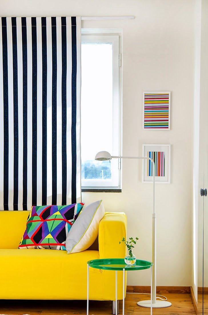 Flexsteel Sofa Klippan seater sofa cover in Sun Yellow Panama Cotton
