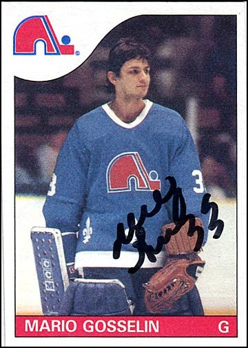 Sal's Hockey Autographs: Mario Gosselin