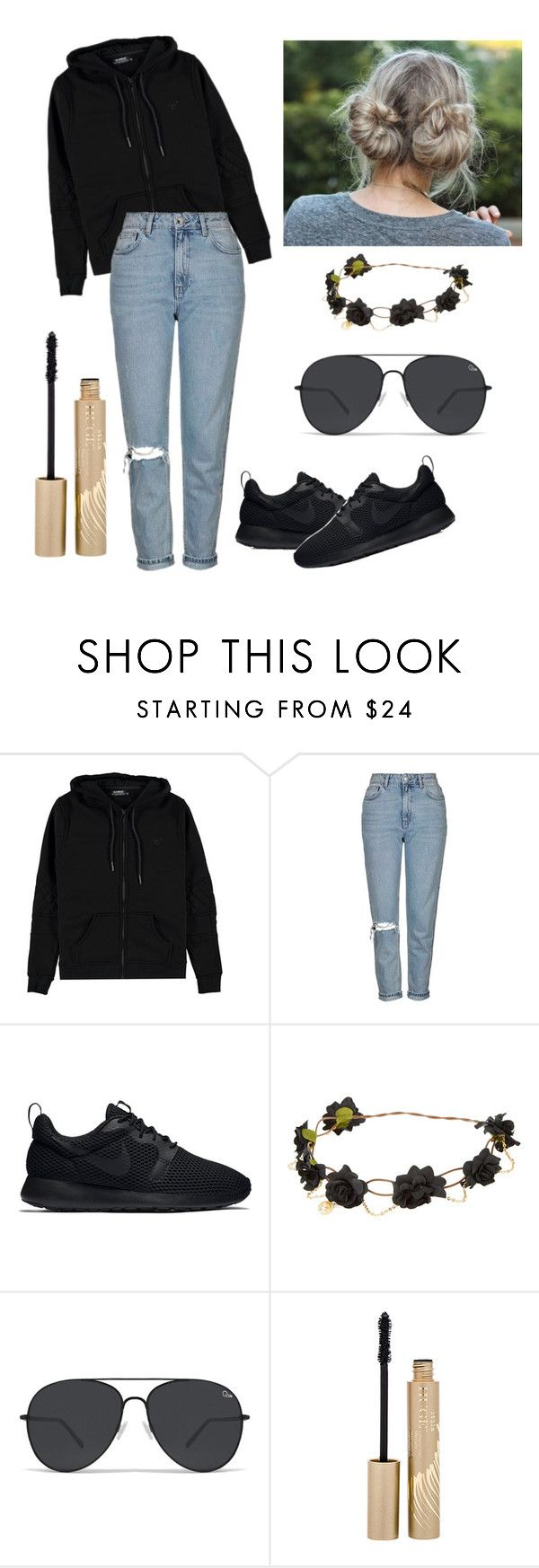 """""""Untitled #41"""" by ayoo-tj ❤ liked on Polyvore featuring Voi Jeans, Topshop, NIKE and Stila"""