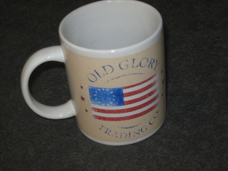 Old Glory Trading Co. Coffee Mug Flags Americana Red/White/Blue #DH46