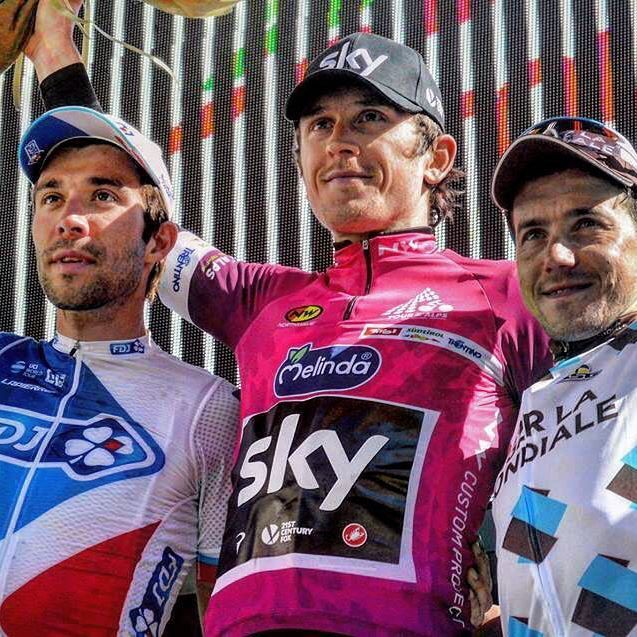 "Tour of the Alps 2017 (2.HC)  Final general classification :  1. Geraint Thomas (Team Sky) in 20:49'37""  2. Thibaut Pinot (FDJ) at 7″  3. Domenico Pozzovivo (Ag2r – La Mondiale) at 20″  4. Michele Scarponi (Astana) at 27″  5. Mikel Landa (Team Sky) at 42″  6. Pierre Rolland (Cannondale-Drapac) at 52″  7. Emanuel Buchmann (Bora-Hansgrohe) at 54″  8. Danilo Celano (Italie) at 54″  9. Egan Bernal (Androni-Sidermec) at 1'02""  10. Rodolfo Torres (Androni-Sidermec) at 1'16"""