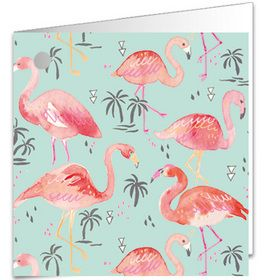 GT187 Gift Tag Flamingoes (wrap to match available) www.gailscards.com.au