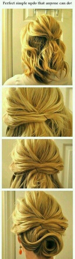 Idea raccolto per capelli a caschetto